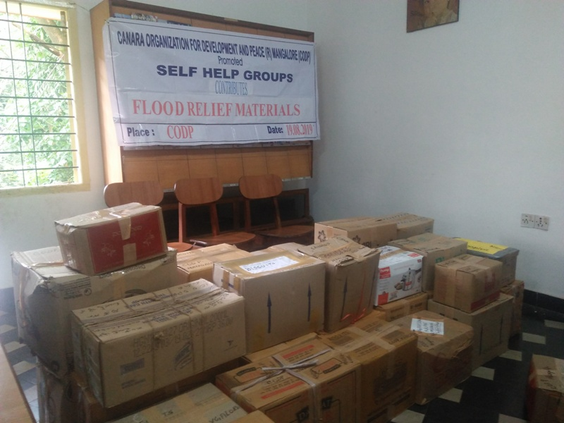 <b>CODP contributes Flood Relief materials</b>
