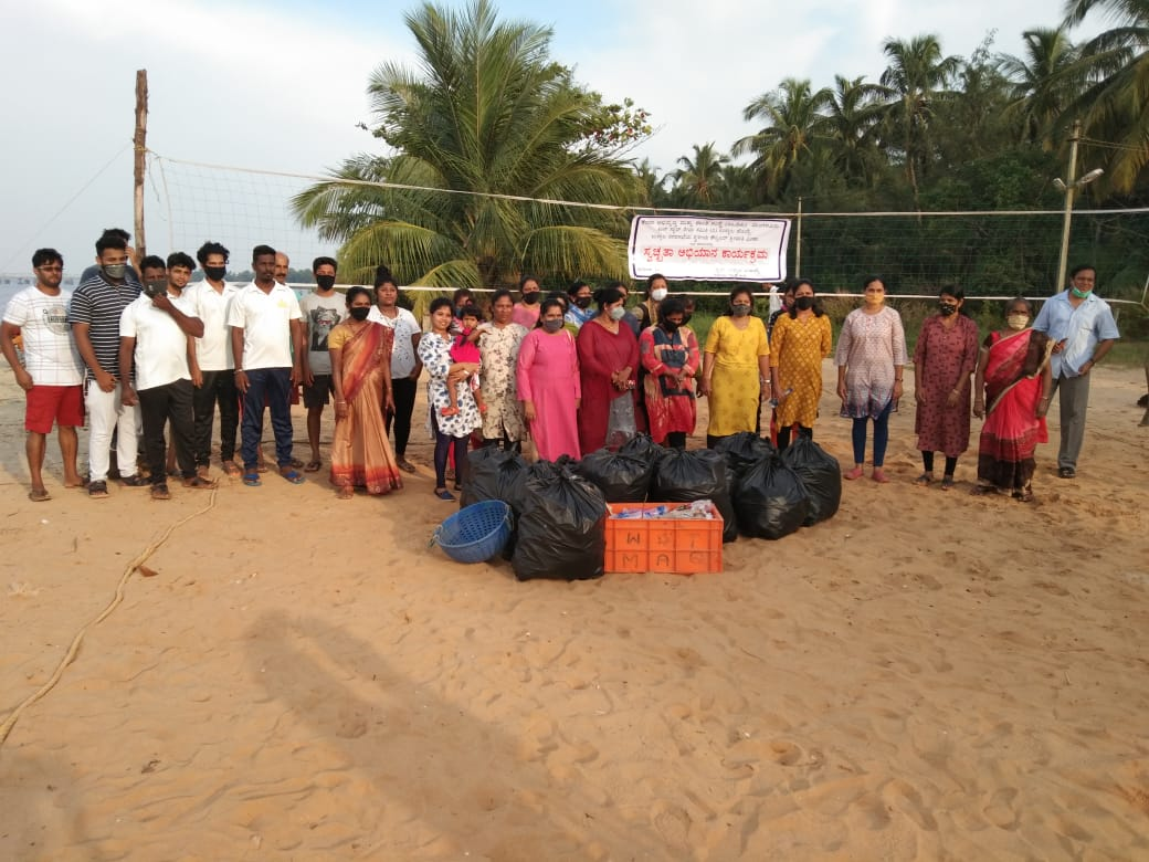 <b>Cleanliness is next to Godliness - Cleanliness drive at Ullal Hoige</b>